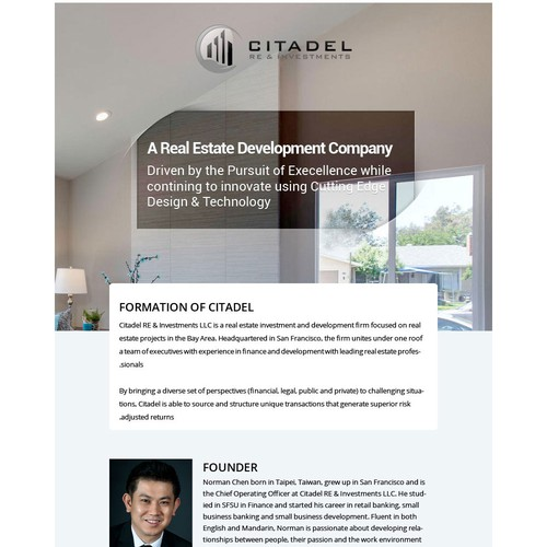 About us :: citadel re & investments By having an