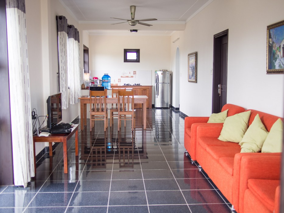 Hoi An house rental -our living room at Lotus Apartments