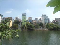 lake view & bright balcony ,3 bedroom apartment in Yen Phu, Hanoi, balcony,
