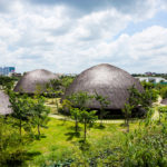 Vo trong nghia's bamboo domes peer over park in ho chi minh